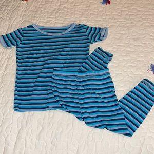 Kickee Pants Blue Stripe PJ Set 6-12M